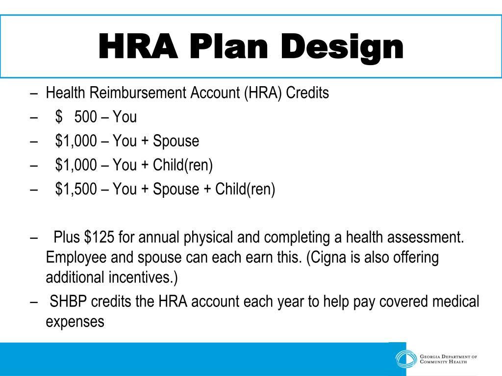 HRA Plan Design