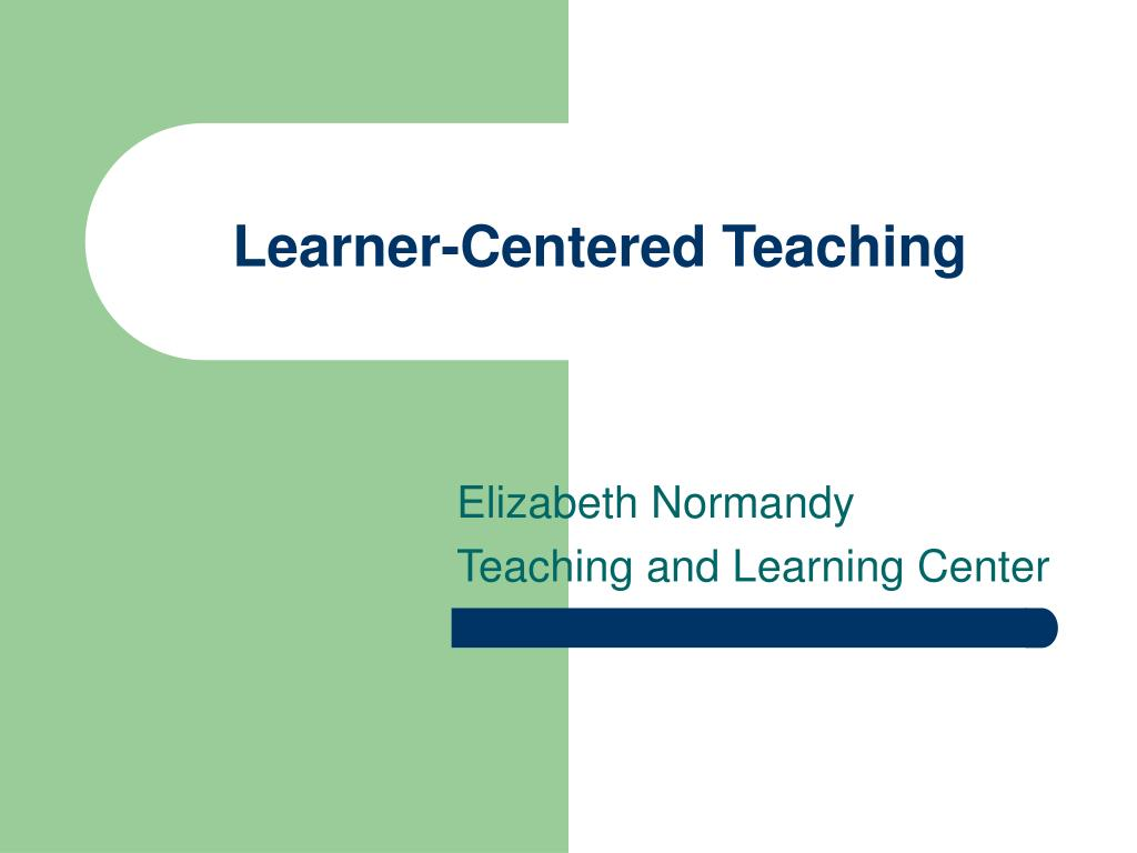 learner centered teaching l.