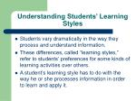 understanding students learning styles