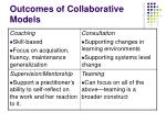 outcomes of collaborative models