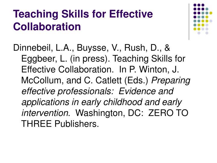 Collaborative Teaching Powerpoint ~ Ppt teaching effective collaboration skills powerpoint