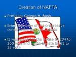 creation of nafta