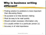 why is business writing different