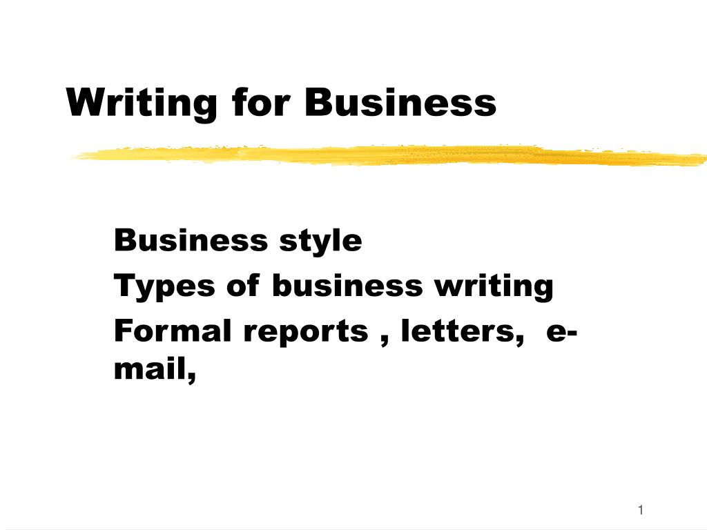 writing for business l.