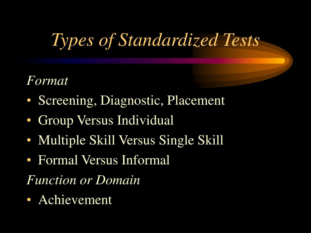 Types of Standardized Tests