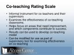 co teaching rating scale