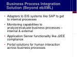 business process integration solution beyond ebxml