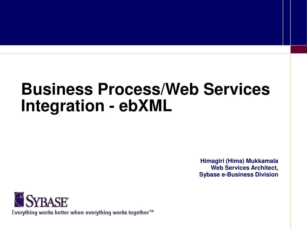 business process web services integration ebxml l.