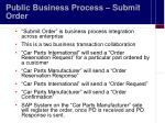 public business process submit order