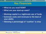key financials19