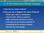 of the business model answer33