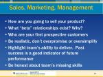 sales marketing management