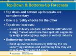top down bottoms up forecasts