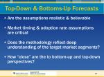 top down bottoms up forecasts38