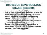 duties of controlling shareholders