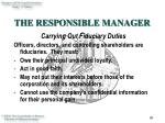 the responsible manager