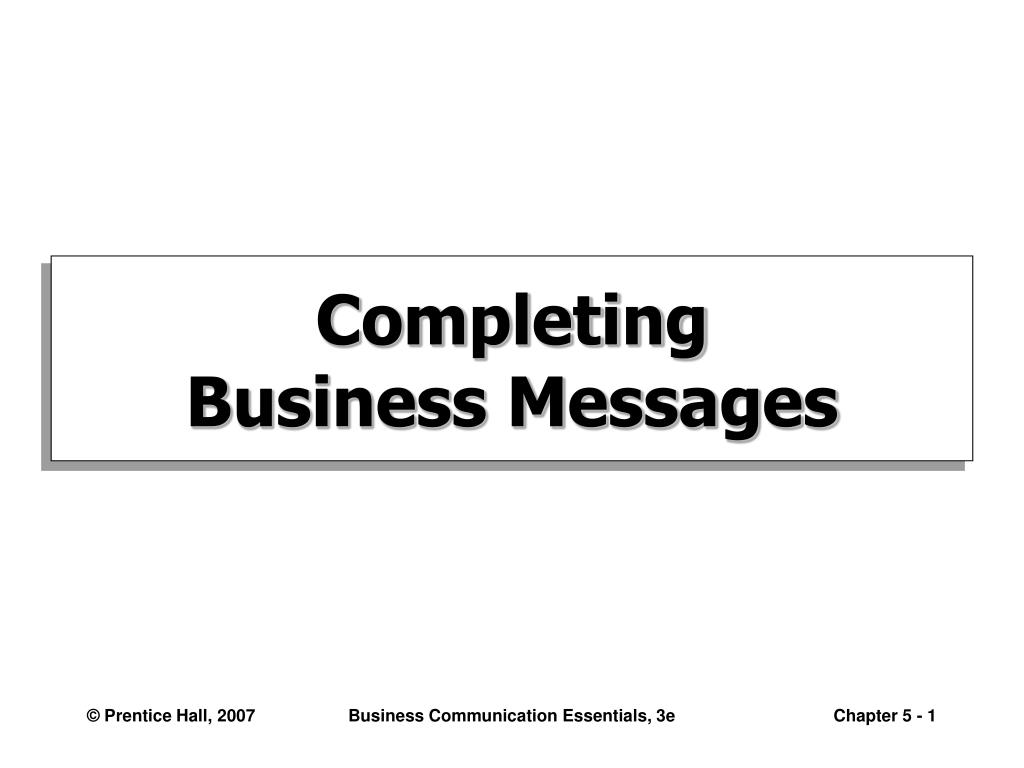 completing business messages l.