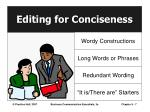 editing for conciseness