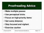 proofreading advice