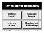 reviewing for readability