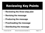 reviewing key points