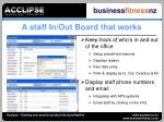a staff in out board that works