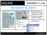 newsletters for clients
