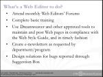 what s a web editor to do