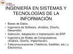 ingenier a en sistemas y tecnolog as de la informaci n