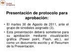 presentaci n de protocolo para aprobaci n
