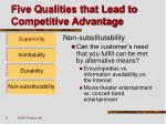 five qualities that lead to competitive advantage6