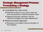 strategic management process formulating a strategy21
