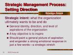 strategic management process setting direction10