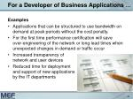 for a developer of business applications43