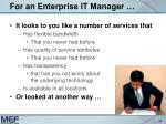 for an enterprise it manager