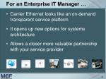 for an enterprise it manager40
