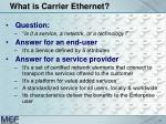 what is carrier ethernet