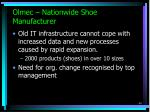 olmec nationwide shoe manufacturer