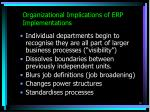 organizational implications of erp implementations