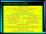 private venture vs soe