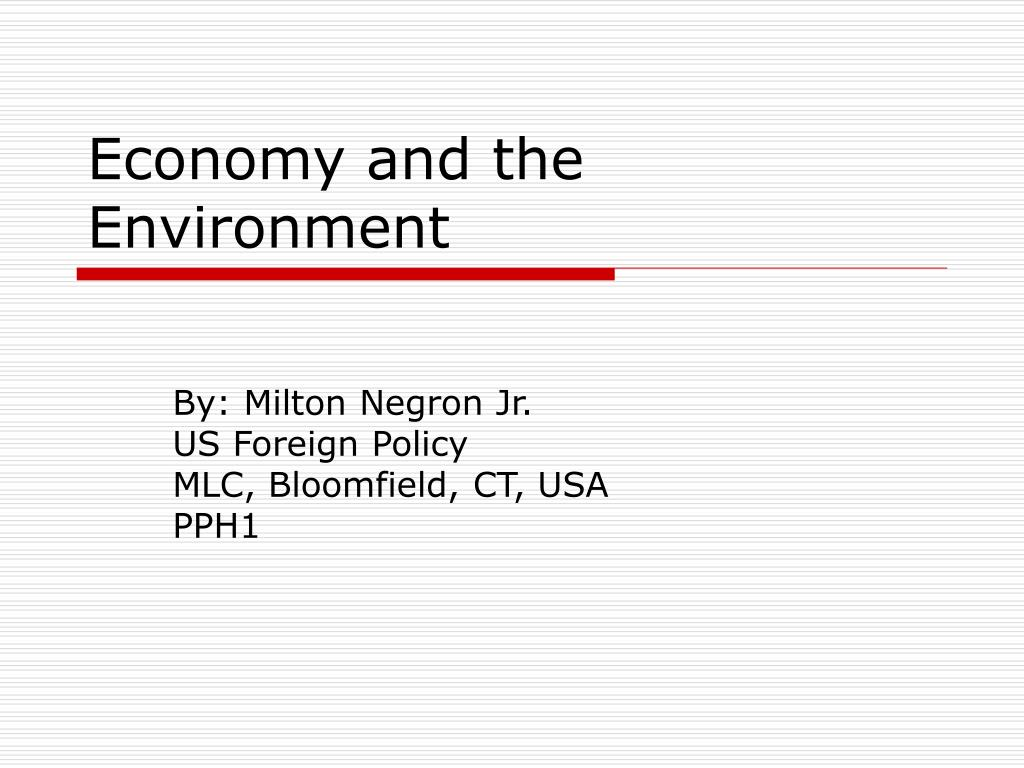 economy and the environment l.