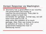 korean response via washington