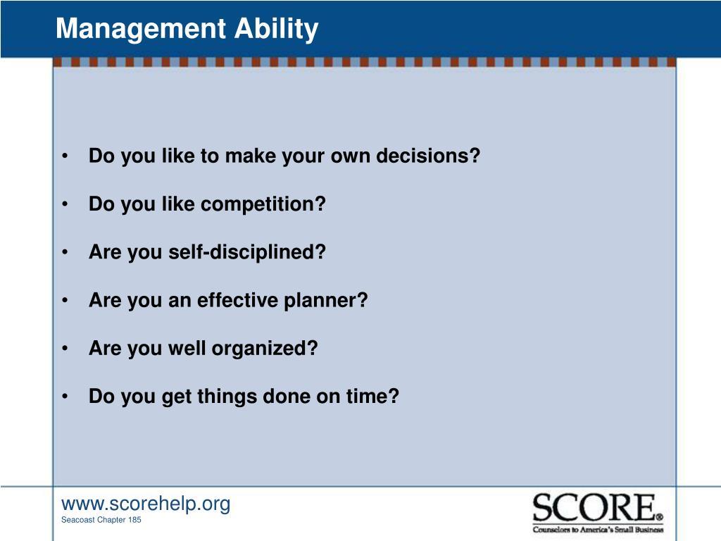 Management Ability