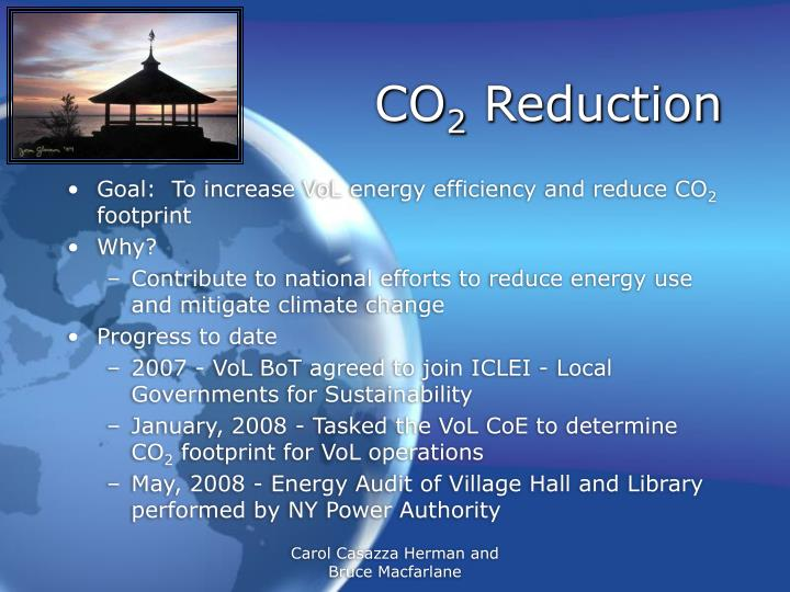 Co 2 reduction