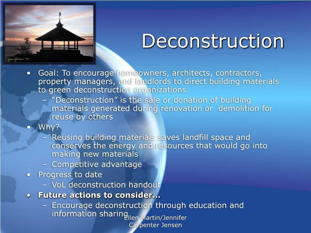 Deconstruction