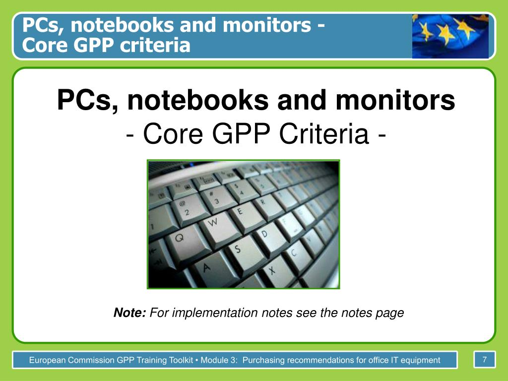 PCs, notebooks and monitors -