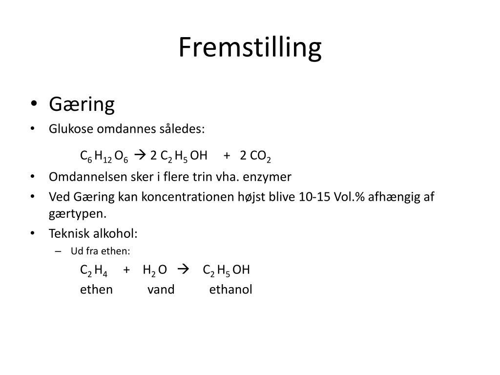 Fremstilling