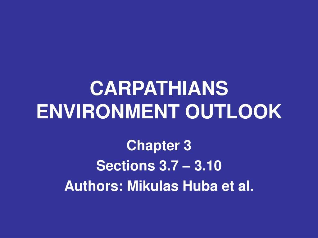 carpathians environment outlook l.