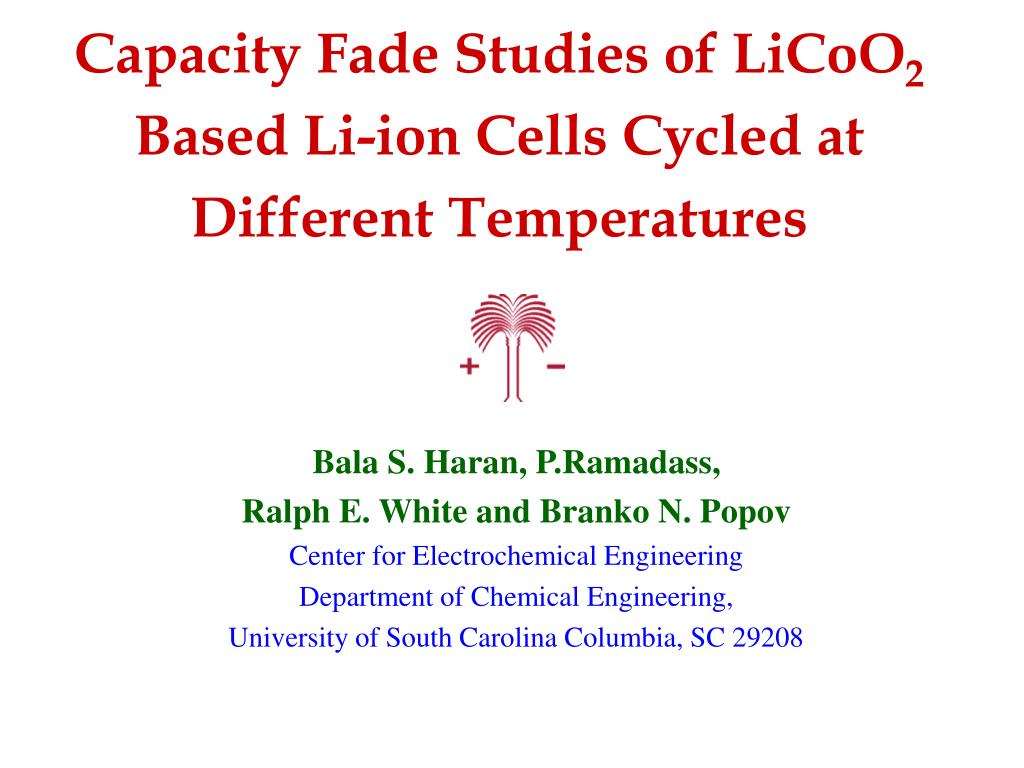 Capacity Fade Studies of LiCoO