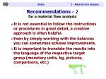 recommendations 2 for a material flow analysis